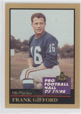 1991 Enor Pro Football Hall of Fame #46 - Frank Gifford