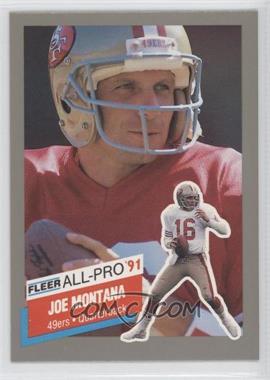 1991 Fleer - All-Pro #19 - Joe Montana