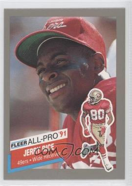1991 Fleer - All-Pro #20 - Jerry Rice