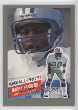 1991 Fleer - All-Pro #9 - Barry Sanders