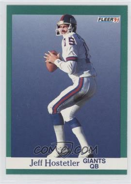 1991 Fleer - [Base] #312 - Jeff Hostetler