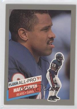 1991 Fleer All-Pro #17 - Mark A. Carrier