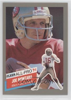 1991 Fleer All-Pro #19 - Joe Montana