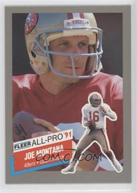 1991 Fleer All-Pro #19 - Joe Montana