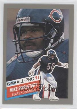 1991 Fleer All-Pro #22 - Mike Singletary