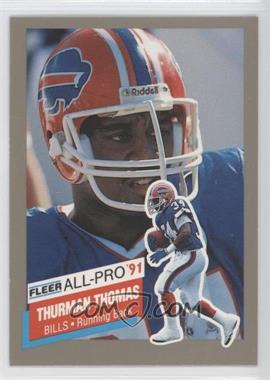 1991 Fleer All-Pro #26 - Thurman Thomas