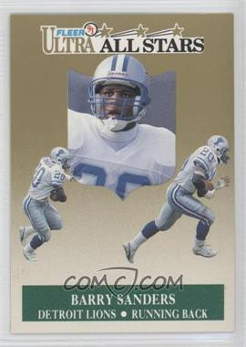 1991 Fleer Ultra All-Stars #1 - Barry Sanders