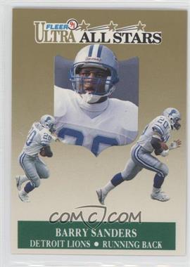1991 Fleer Ultra All-Stars #1 - Barry Sanders