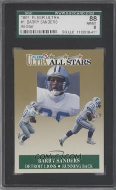 1991 Fleer Ultra All-Stars #1 - Barry Sanders [SGC 88]
