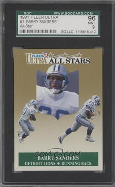 1991 Fleer Ultra All-Stars #1 - Barry Sanders [SGC 96]