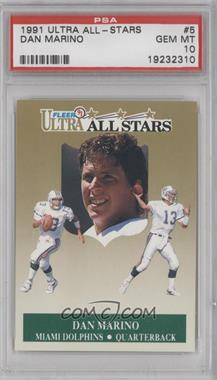 1991 Fleer Ultra All-Stars #5 - Dan Marino [PSA 10]