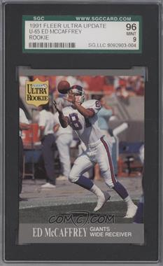 1991 Fleer Ultra Update #U-65 - Ed McCaffrey [SGC 96]