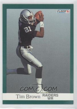 1991 Fleer #104 - Tim Brown