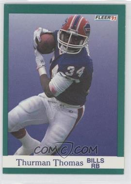 1991 Fleer #14 - Thurman Thomas