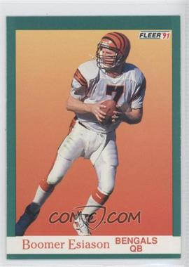 1991 Fleer #19 - Boomer Esiason