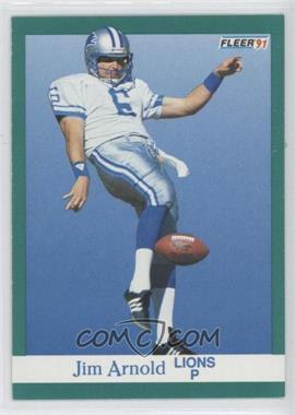1991 Fleer #239 - Jim Arnold