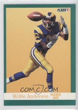 1991 Fleer #264 - Willie Anderson
