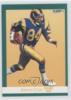 1991 Fleer #265 - Aaron Cox