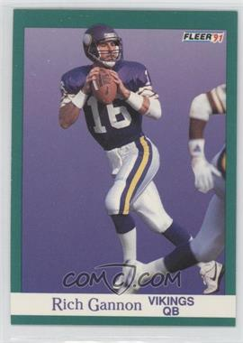 1991 Fleer #282 - Rich Gannon