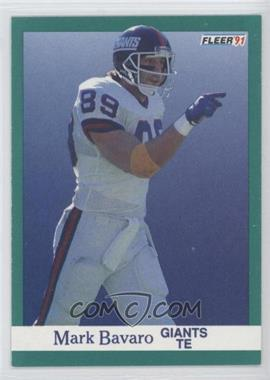 1991 Fleer #307 - Mark Bavaro