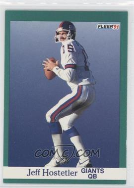 1991 Fleer #312 - Jeff Hostetler