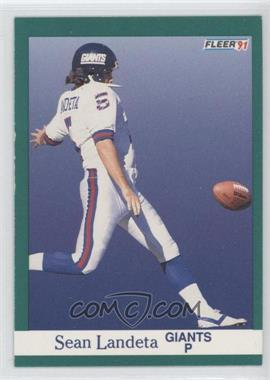 1991 Fleer #315 - Sean Landeta