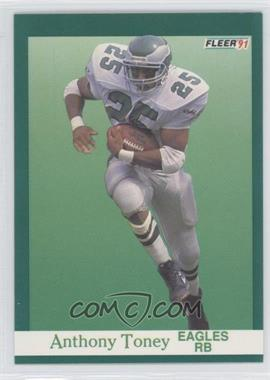 1991 Fleer #334 - Anthony Toney