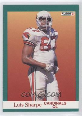 1991 Fleer #348 - Luis Sharpe