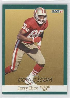 1991 Fleer #363 - Jerry Rice