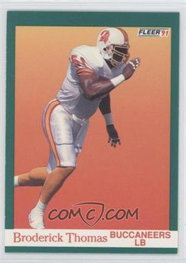 1991 Fleer #381 - Broderick Thomas