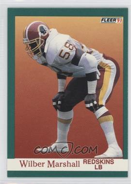 1991 Fleer #390 - Wilber Marshall