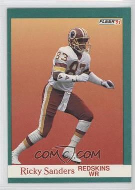 1991 Fleer #394 - Ricky Sanders