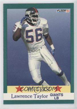 1991 Fleer #398 - Lawrence Taylor