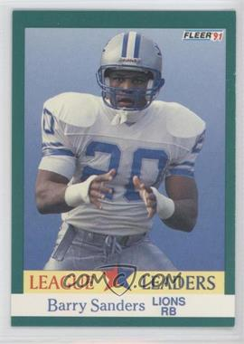1991 Fleer #415 - Barry Sanders
