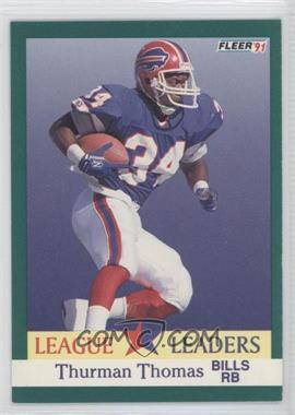 1991 Fleer #417 - Thurman Thomas