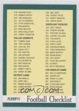 1991 Fleer #431 - Checklist