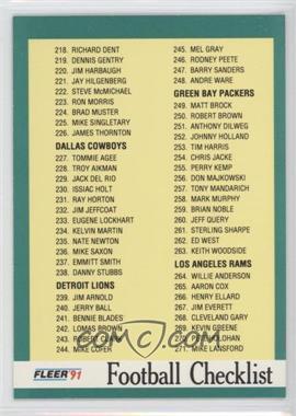 1991 Fleer #431 - [Missing]