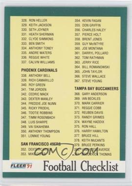 1991 Fleer #432 - Checklist