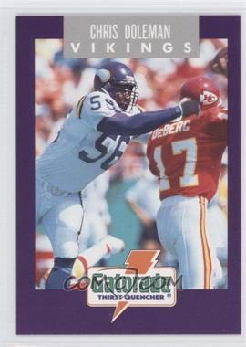 1991 Gatorade Minnesota Vikings - [Base] #10 - Chris Doleman