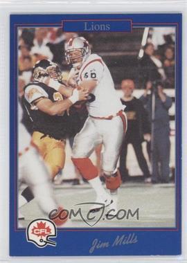 1991 Jogo CFL - [Base] #166 - Jim Mills