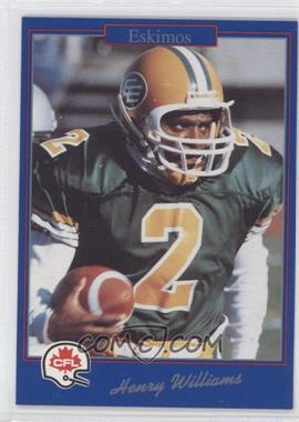 1991 Jogo CFL - [Base] #18 - Henry Williams