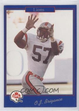 1991 Jogo CFL - [Base] #186 - O.J. Brigance