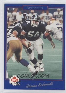 1991 Jogo CFL - [Base] #203 - Blaine Schmidt