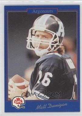 1991 Jogo CFL #195 - Matt Dunigan