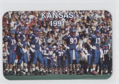 1991 Kansas Jayhawks Schedule Card #N/A - Kansas 1991