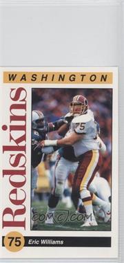1991 Mobil Washington Redskins Police - [Base] #75 - Eric Williams