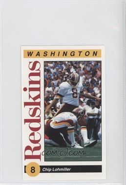 1991 Mobil Washington Redskins Police - [Base] #8 - Chip Lohmiller