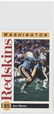 1991 Mobil Washington Redskins Police - [Base] #85 - Don Warren