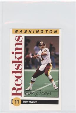 1991 Mobil Washington Redskins Police - [Base] #N/A - Mark Rypien