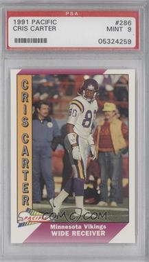 1991 Pacific - [Base] #286.2 - Cris Carter (Corrected: Name Spelled Correctly) [PSA9]